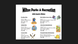 2015 Milton Parks & Recreation sports clinics