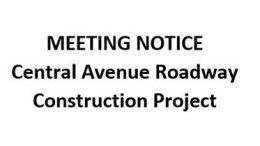DPW Central Avenue roadway construction project 2015