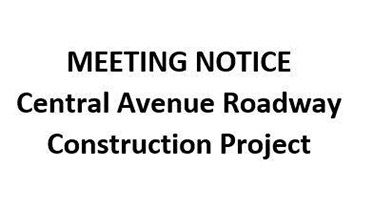 DPW Central Avenue roadway construction project 2015