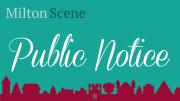 Milton Scene Public Notice