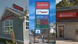 Signs in Milton. Super Petroleum sign from applicant's public proposal.