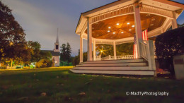Milton Town Hall Gazebo by local photographer, Brian Maclean