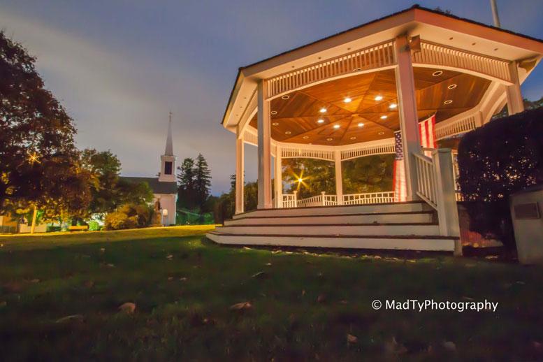Milton Town Hall Gazebo by local photographer, Brian Maclean