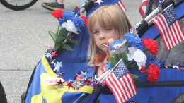 A little girl enjoying July 4th fun