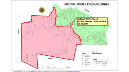 Milton water pressure zones map