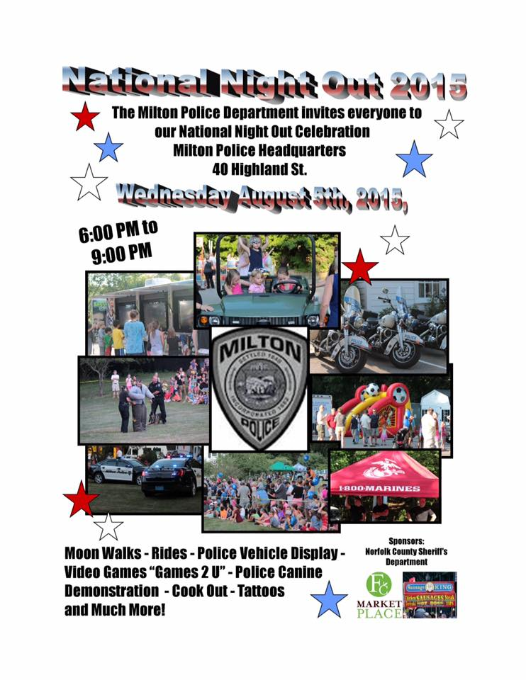 Join MPD on Wednesdayk, August 5th, 6-9pm, for National Night Out