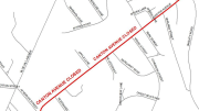 Canton Avenue Closure, map