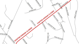 Canton Avenue Closure, map