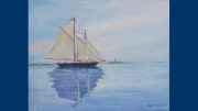 Rob Franco: Heading Out to Buzzard's Bay painting