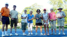 Milton neighbors enjoy round robin tennis at Fuller Village