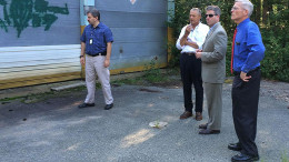 Timilty tours proposed waste-transfer station site in Holbrook