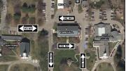 Milton Town Hall Traffic Pattern