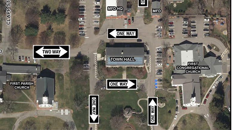 Milton Town Hall Traffic Pattern