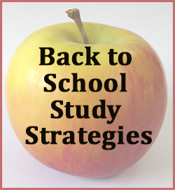 Back to school study strategies