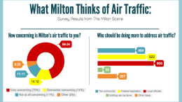 What Milton thinks of air traffic: survey results from the Milton Scene
