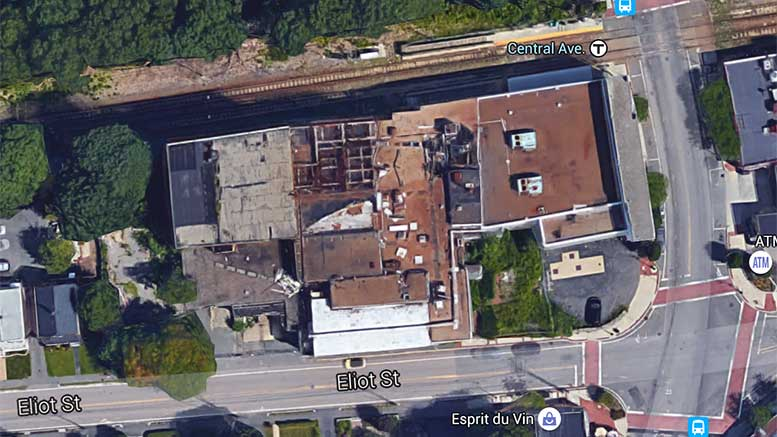 Aerial shot of Hendries factory, courtesy Google maps