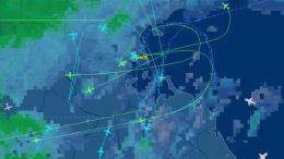 Plane traffic map