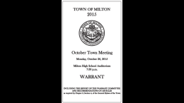 Town Meeting, October 2016