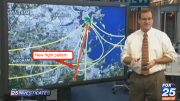 From Fox 25: demonstration of new flight paths over Milton