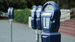 Parking meters in Milton, MA.
