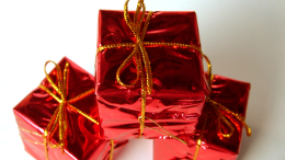 three red presents