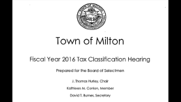 2016 Tax Classification Hearing