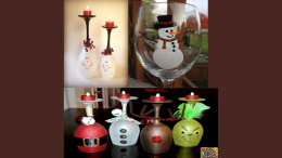 Milton Kiwanis Wine Glass painting
