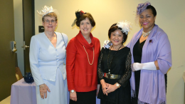 Milton's Downton Abbey Tea Committee: Nancy Kearns, Connie Spiros, Suzettes Standring, Elizabeth Thomas