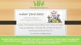 Milton Playground Planners indoor yard sale