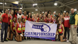 Milton High School Girls Indoor Track and Field win MIAA Division IV States
