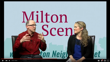 Milton Scene Milton Neighbors interview - talk of the town, Melissa Fassel Dunn and Brian Kelly