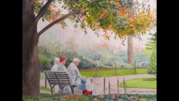Ted Nystrom displays his art at the Milton Public Library Wotiz Gallery