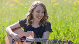 Audrey Woodhams teaches songwriting and voice lessons in Milton, MA