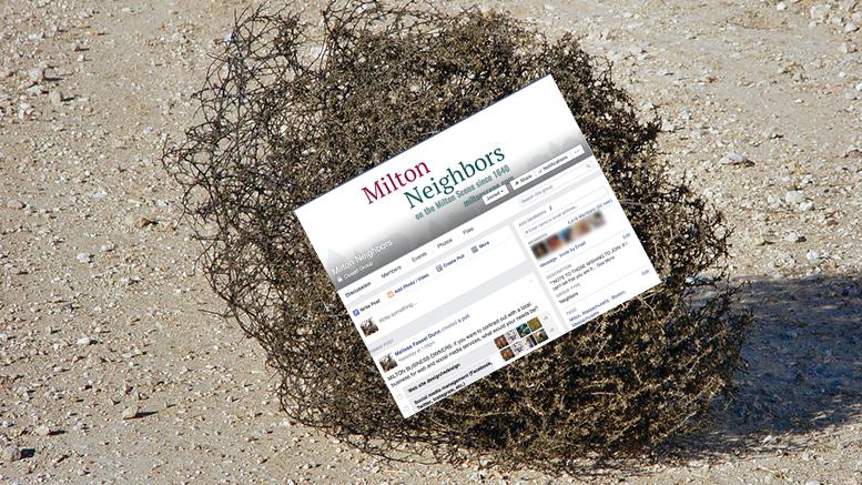 Milton Neighbors tumbleweed