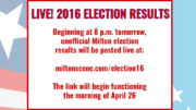 2016 LIVE! Milton election results on the Milton Scene