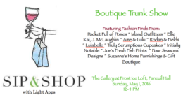 Milton Neighbors invited to Sip and Shop Boutique Trunk Show at FROST Ice Loft May 1