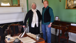 Dr. Joseph Warren (Michael LePage) at the Suffolk Reserves House