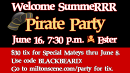 Buy tickets by June 8 for Matey Discount: ! Milton NeighboRRRS Welcome Summer Party