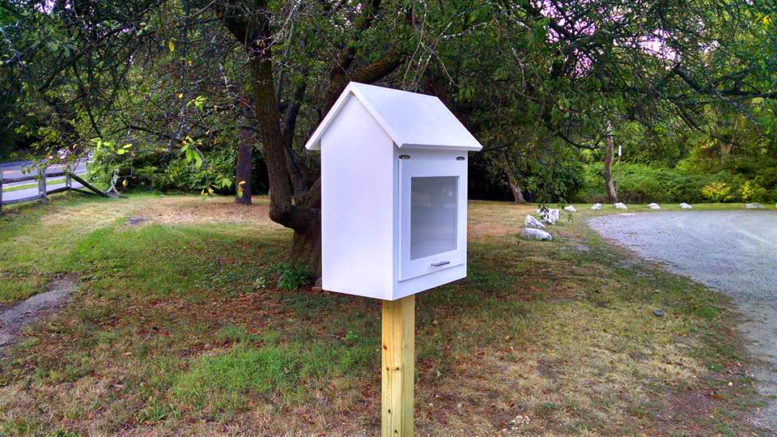 Little Free Libraries introduced to Milton's parks. Photo courtesy Gabrielle Sullivan
