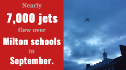 Nearly 7,000 jets flew over Cunningham and Collicot Schools in Milton, in September alone.