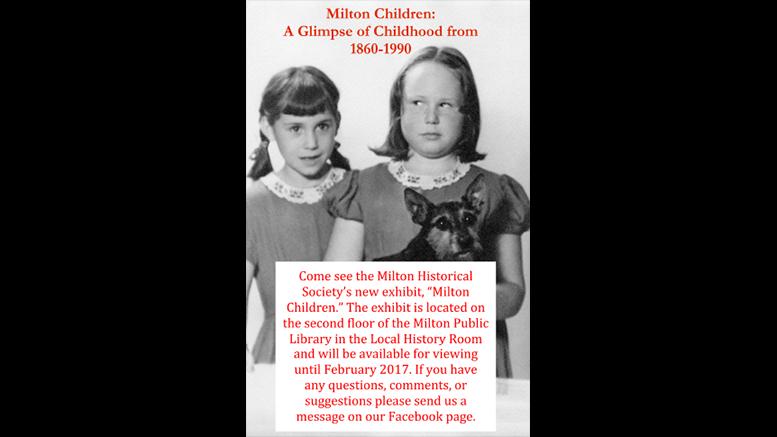 Milton Children exhibit: A Glimpse of Childhood 1860-1990