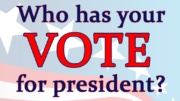 Which presidential candidate has your vote?