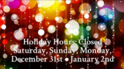 Milton Public Library announces New Year's holiday hours