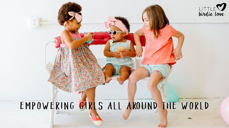 Support clothes for girls with a purpose: Little Birdie Love