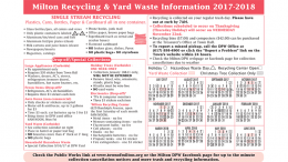 Milton's 2017/2018 new yard waste calendar/schedule
