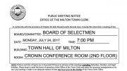BOS Meeting July 24, 2017