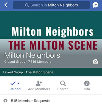 Milton Neighbors on Facebook