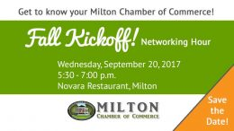 Milton Chamber of Commerce Fall Kickoff to take place September 20