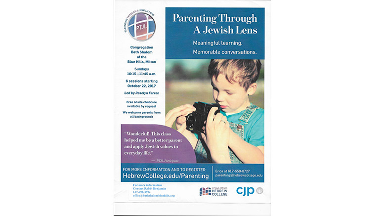 Parenting course: Parenting through a Jewish Lens