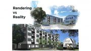 Rendering vs. Reality: East Milton 40B project